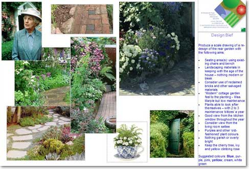 Garden Design Mood Board portfolio: a spacious low-maintenance back garden